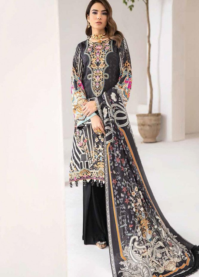 Reet By Ramsha Embroidered Viscose Suits Unstitched 3 Piece RSH21-R2 206 - Winter Collection