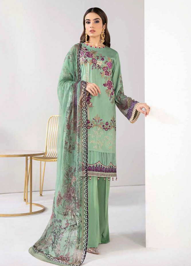 Reet By Ramsha Embroidered Viscose Suits Unstitched 3 Piece RSH21-R2 207 - Winter Collection