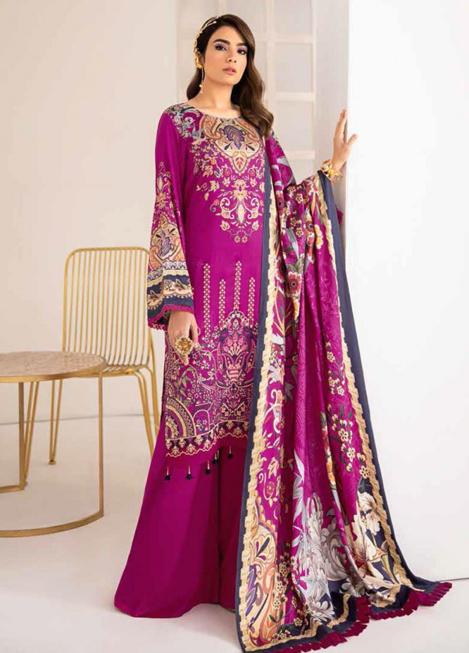 Reet By Ramsha Embroidered Viscose Suits Unstitched 3 Piece RSH21-R2 209 - Winter Collection