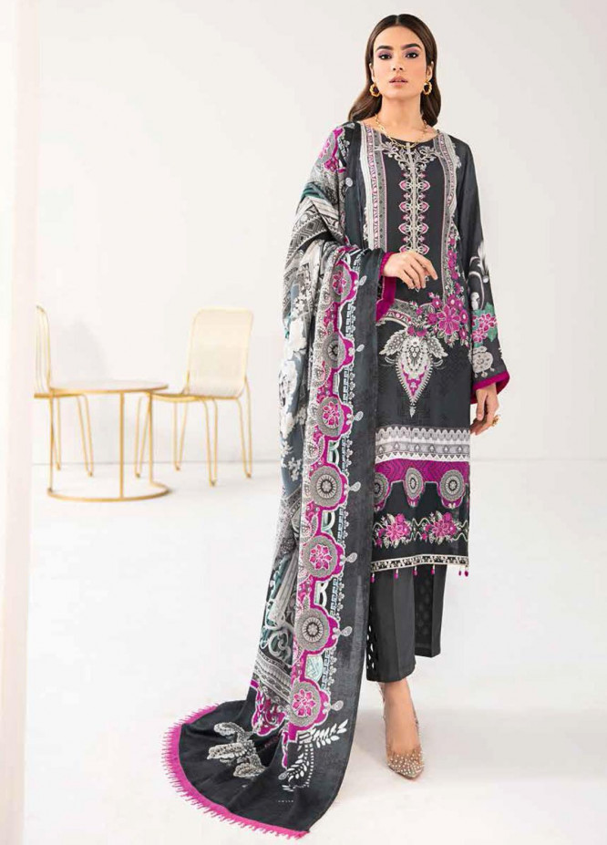 Reet By Ramsha Embroidered Viscose Suits Unstitched 3 Piece RSH21-R2 210 - Winter Collection