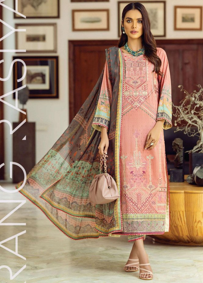 Florence By Rang Rasiya Embroidered Lawn Suits Unstitched 3 Piece RR21FF 06 Tribascus - Festive Collection