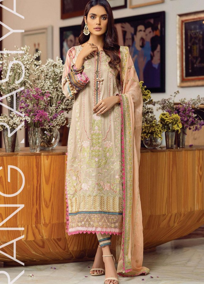 Florence By Rang Rasiya Embroidered Lawn Suits Unstitched 3 Piece RR21FF 07 Siena - Festive Collection
