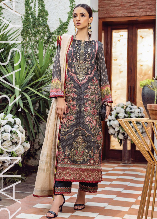 Florence By Rang Rasiya Embroidered Lawn Suits Unstitched 3 Piece RR21FF 09 Nyle - Festive Collection