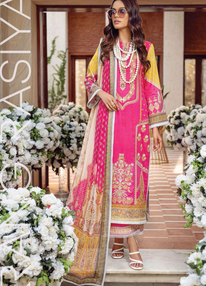 Florence By Rang Rasiya Embroidered Lawn Suits Unstitched 3 Piece RR21FF 10 Vienna - Festive Collection