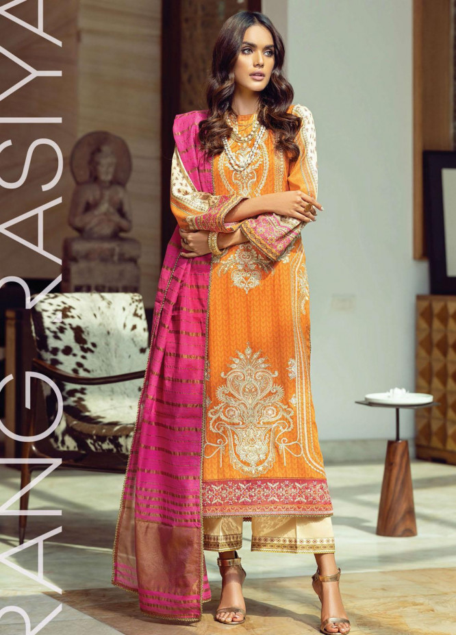 Florence By Rang Rasiya Embroidered Lawn Suits Unstitched 3 Piece RR21FF 13 Frisk - Festive Collection