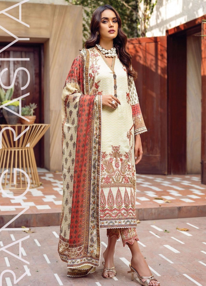 Florence By Rang Rasiya Embroidered Lawn Suits Unstitched 3 Piece RR21FF 14 Koyal - Festive Collection