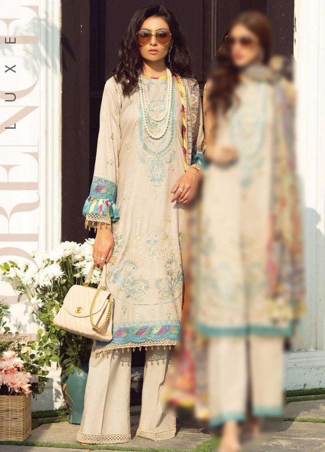 Florence By Rang Rasiya Embroidered Lawn Suits Unstitched 3 Piece RR21F 13 - Summer Collection