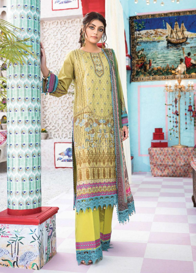 Florence Meherbano By Rang Rasiya Embroidered Lawn Suits Unstitched 3 Piece RR21FM 02 Arya - Spring / Summer Collection