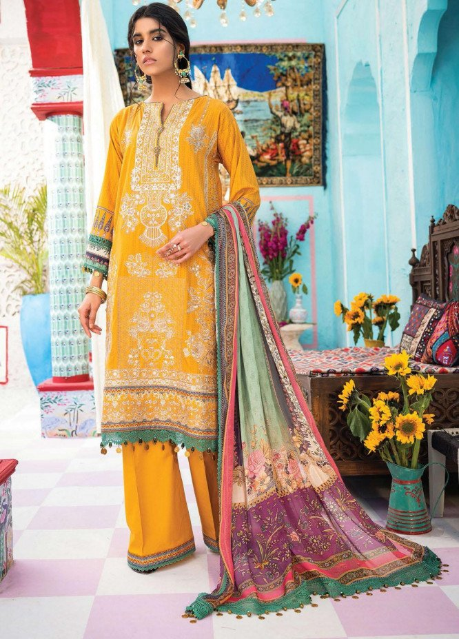 Florence Meherbano By Rang Rasiya Embroidered Lawn Suits Unstitched 3 Piece RR21FM 05 Avai - Spring / Summer Collection