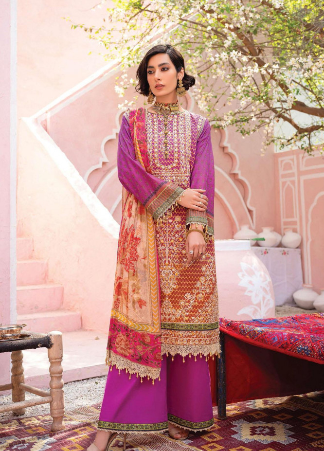 Florence Meherbano By Rang Rasiya Embroidered Lawn Suits Unstitched 3 Piece RR21FM 07 Raga - Spring / Summer Collection