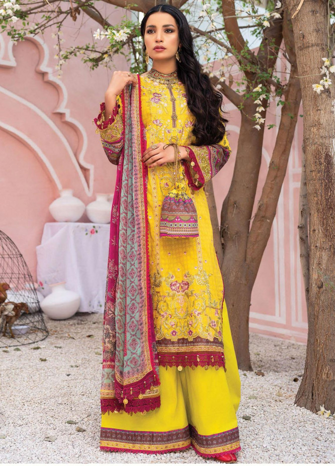 Florence Meherbano By Rang Rasiya Embroidered Lawn Suits Unstitched 3 Piece RR21FM 08 Banhaar - Spring / Summer Collection