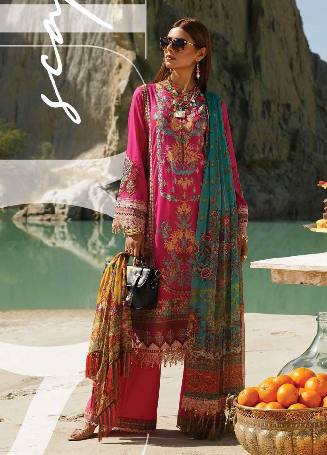 The Soul Saga By Rang Rasiya Embroidered Lawn Suits Unstitched 3 Piece RR21SS 05 Flowtica - Premium Collection