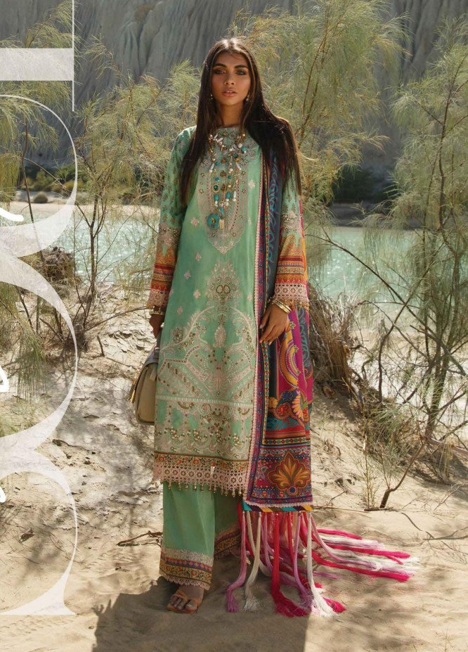 The Soul Saga By Rang Rasiya Embroidered Lawn Suits Unstitched 3 Piece RR21SS 07 Suzanka - Premium Collection