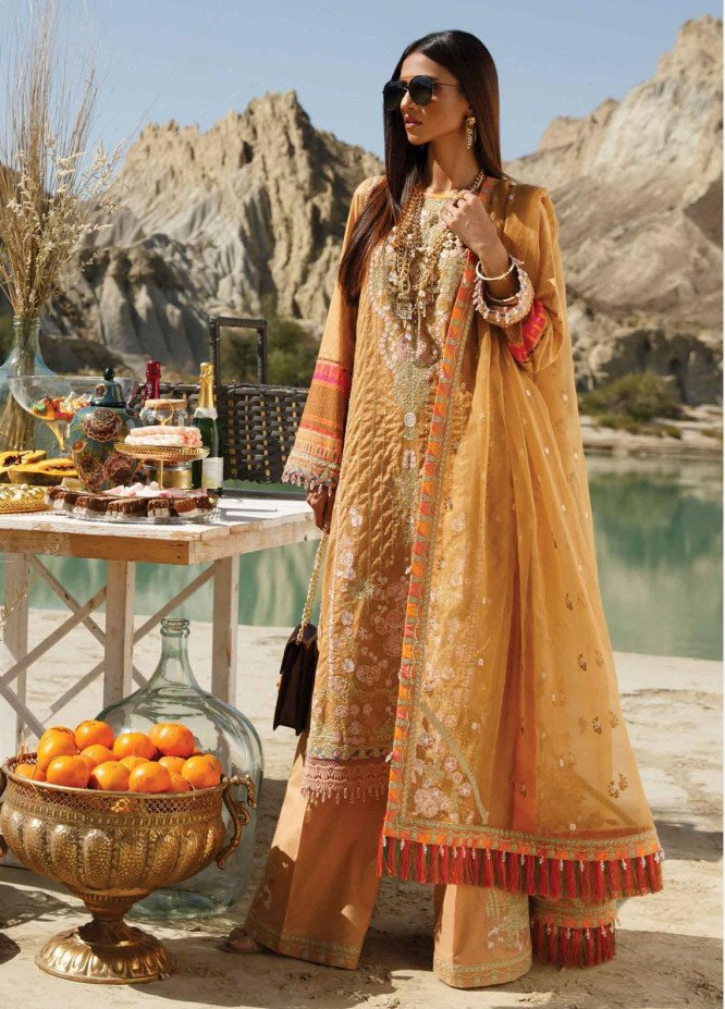 The Soul Saga By Rang Rasiya Embroidered Lawn Suits Unstitched 3 Piece RR21SS 08 Camilla - Premium Collection