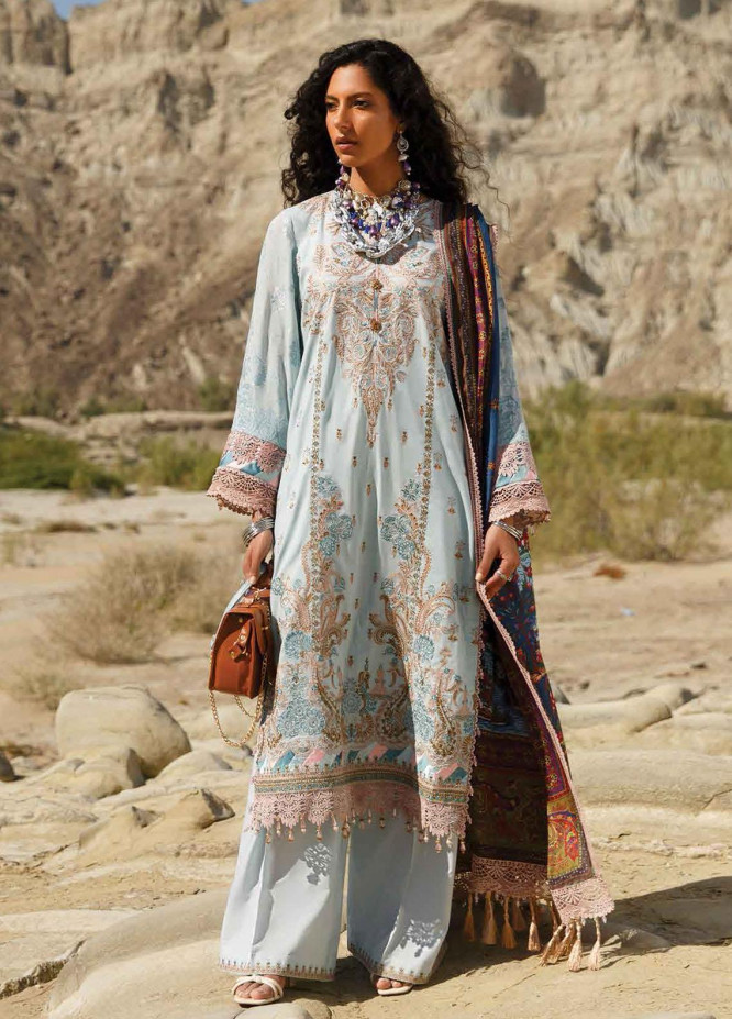 The Soul Saga By Rang Rasiya Embroidered Lawn Suits Unstitched 3 Piece RR21SS 10 Roshangh - Premium Collection