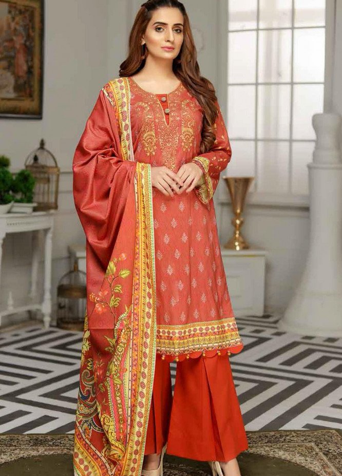 Rangoli by Sanam Saeed Embroidered Viscose Unstitched 3 Piece Suit RG20SV D-01 - Festive Collection