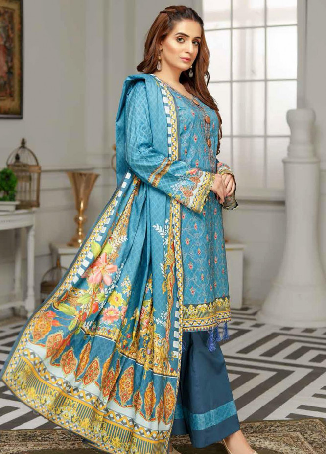 Rangoli by Sanam Saeed Embroidered Viscose Unstitched 3 Piece Suit RG20SV D-02 - Festive Collection