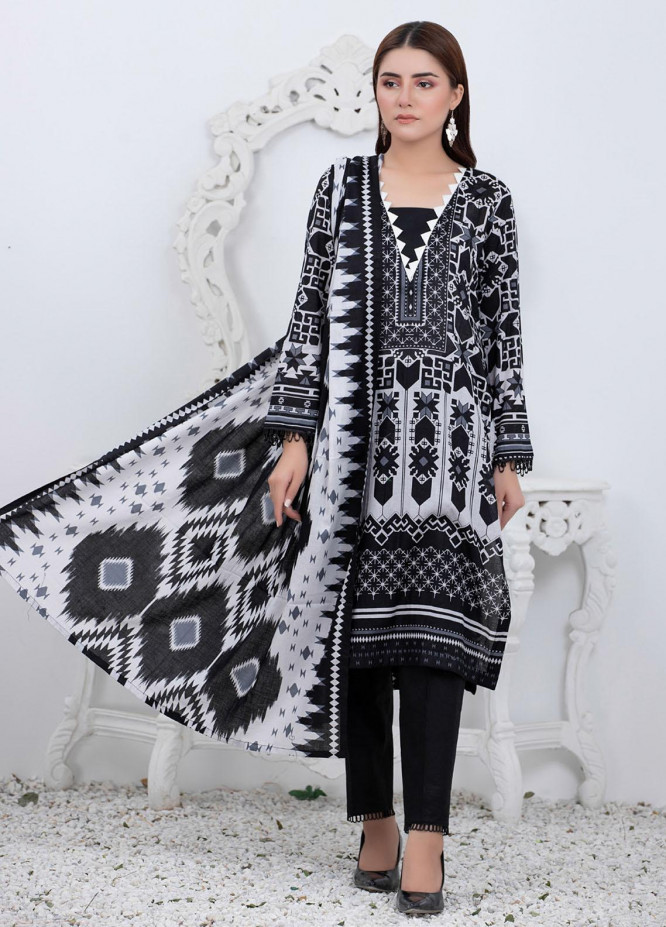 Rangreza By ZS Textiles Printed Lawn Suits Unstitched 3 Piece ZS21BW 01 - Black & White Collection