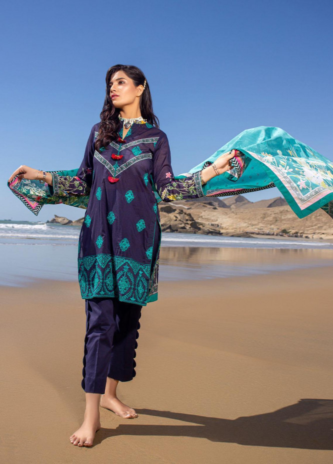 Ravishing by ZS Textiles Embroidered Lawn Unstitched 3 Piece Suit ZS21R 05 - Summer Collection