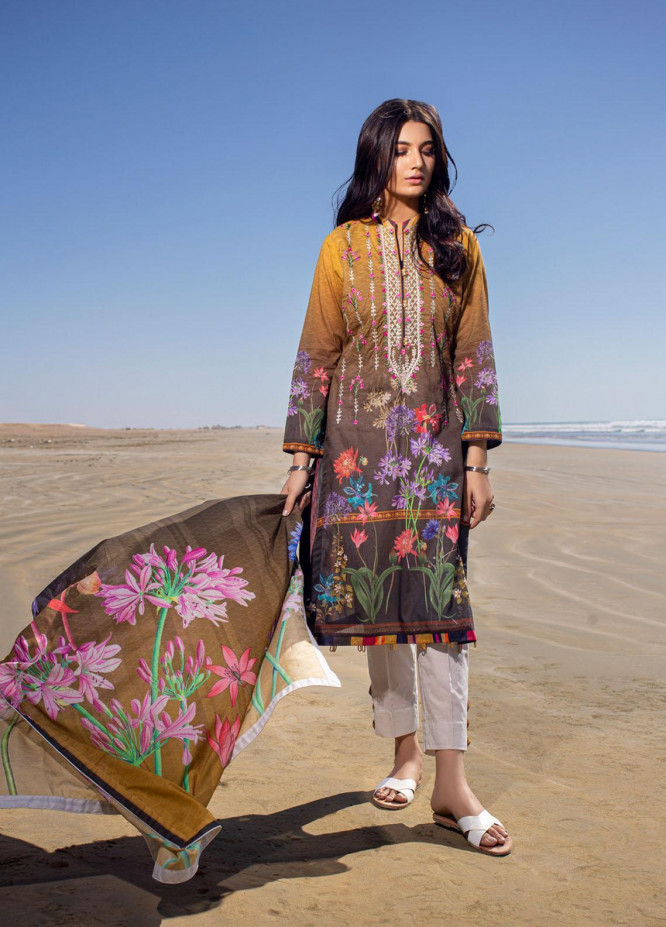 Ravishing by ZS Textiles Embroidered Lawn Unstitched 3 Piece Suit ZS21R 07 - Summer Collection