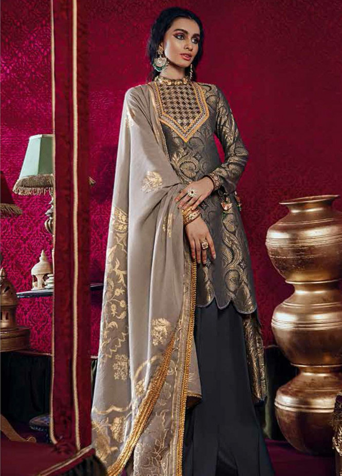 Razia Sultana by Cross Stitch Embroidered Jacquard Unstitched 3 Piece Suit CS20RS 14 QUL DASTAAN-B - Eid Collection