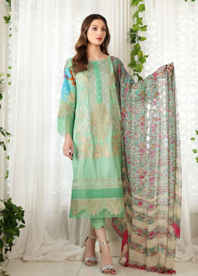 Reem by Charizma Embroidered Lawn Suits Unstitched 3 Piece CRZ21R 01 - Summer Collection