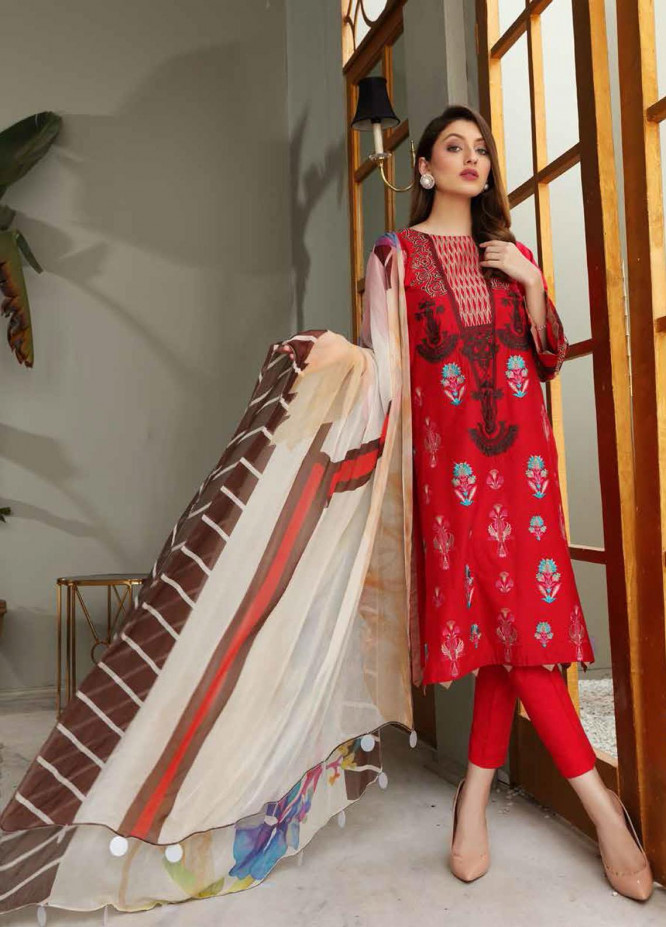 Reem by Charizma Embroidered Lawn Suits Unstitched 3 Piece CRZ21-R2 14 - Summer Collection