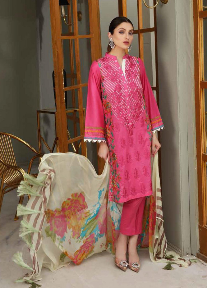 Reem by Charizma Embroidered Lawn Suits Unstitched 3 Piece CRZ21-R2 19 - Summer Collection