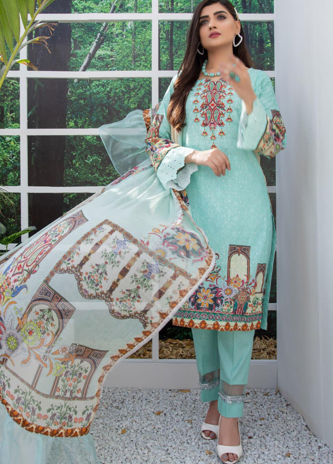 Regalia Textiles Embroidered Lawn Suits Unstitched 3 Piece RG21FE D-03 - Summer Collection