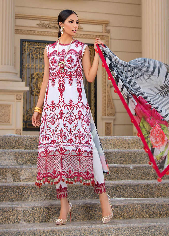 Reign Embroidered Lawn Suits Unstitched 3 Piece RGN21RG JUNO - Summer Collection