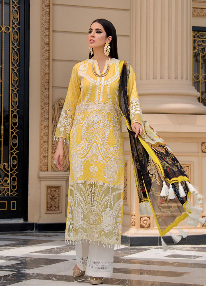 Reign Embroidered Lawn Suits Unstitched 3 Piece RGN21RG ROBIN - Summer Collection