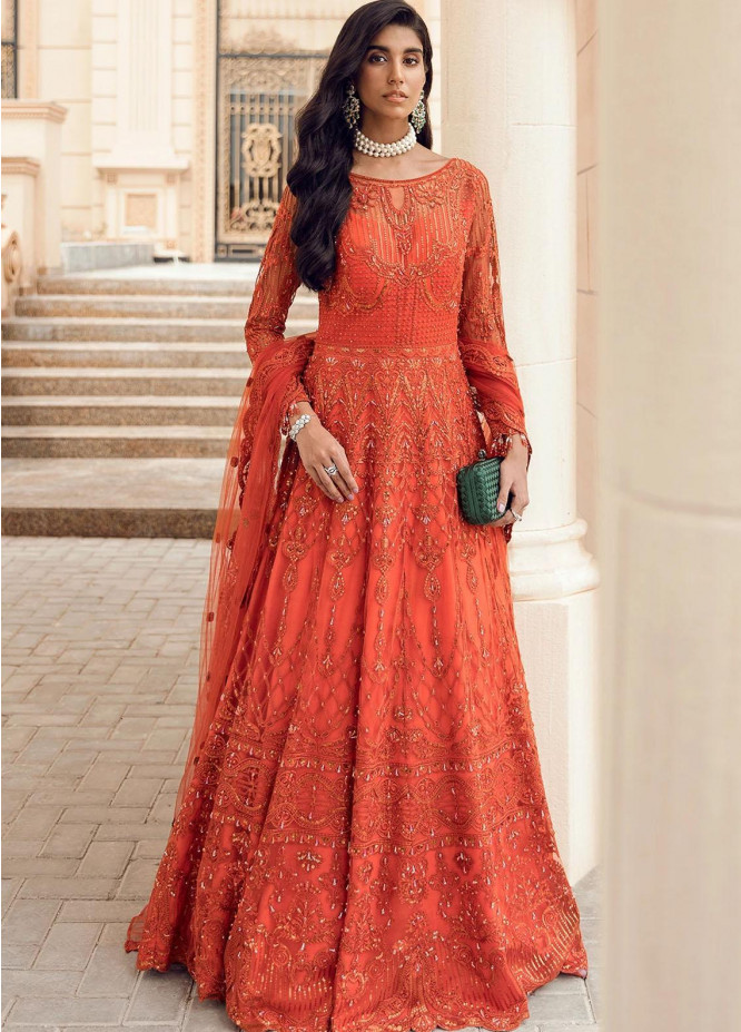 Reignaissance By Reign Embroidered Net Suits Unstitched 3 Piece RGN21WD Egan - Wedding Collection