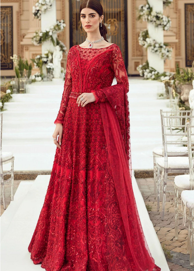 Reignaissance By Reign Embroidered Net Suits Unstitched 3 Piece RGN21WD Elena - Wedding Collection