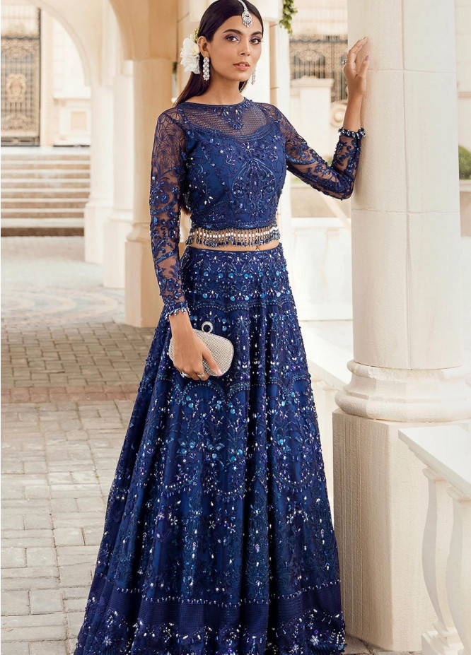 Reignaissance By Reign Embroidered Net Suits Unstitched 3 Piece RGN21WD Hera - Wedding Collection