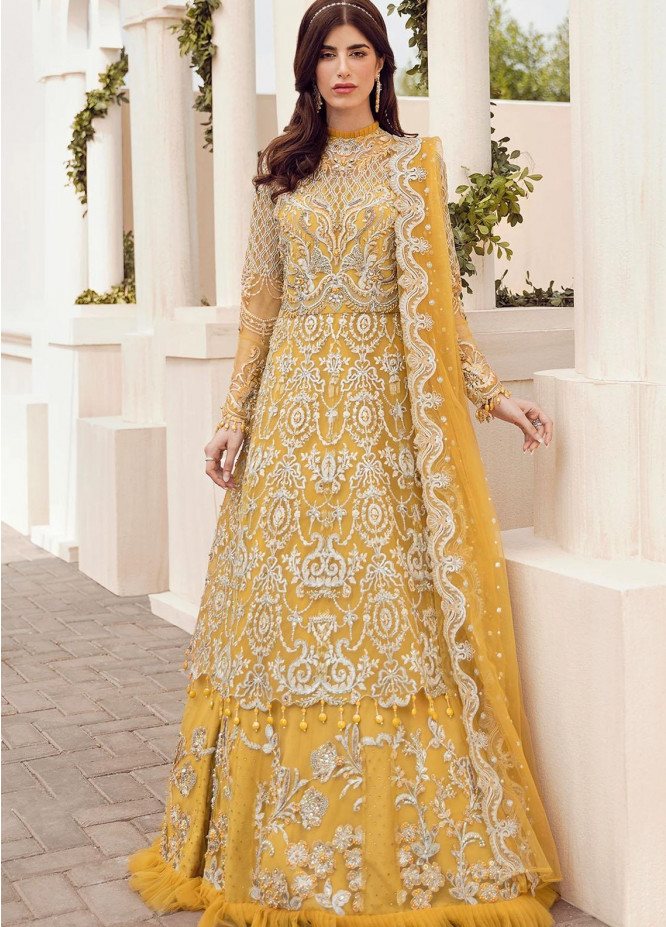 Reignaissance By Reign Embroidered Net Suits Unstitched 3 Piece RGN21WD Malva - Wedding Collection