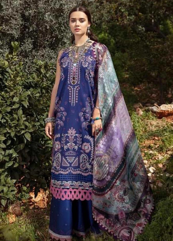 Selene By Republic WomensWear Embroidered Lawn Suits Unstitched 3 Piece RW21S Adiva A - Luxury Collection