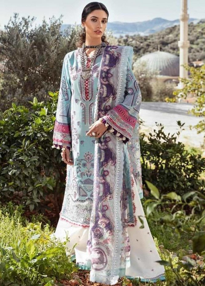 Selene By Republic WomensWear Embroidered Lawn Suits Unstitched 3 Piece RW21S Adiva B - Luxury Collection