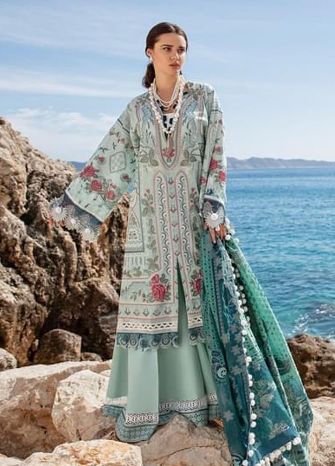 Selene By Republic WomensWear Embroidered Lawn Suits Unstitched 3 Piece RW21S Fatin A - Luxury Collection
