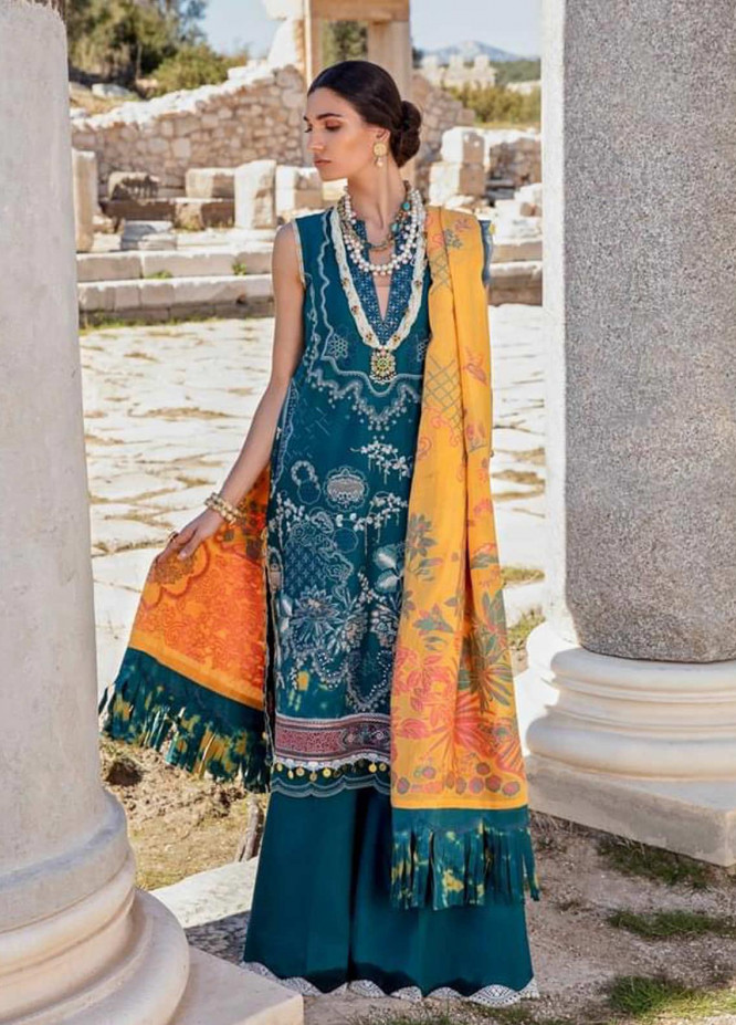 Selene By Republic WomensWear Embroidered Lawn Suits Unstitched 3 Piece RW21S Jaseena A - Luxury Collection