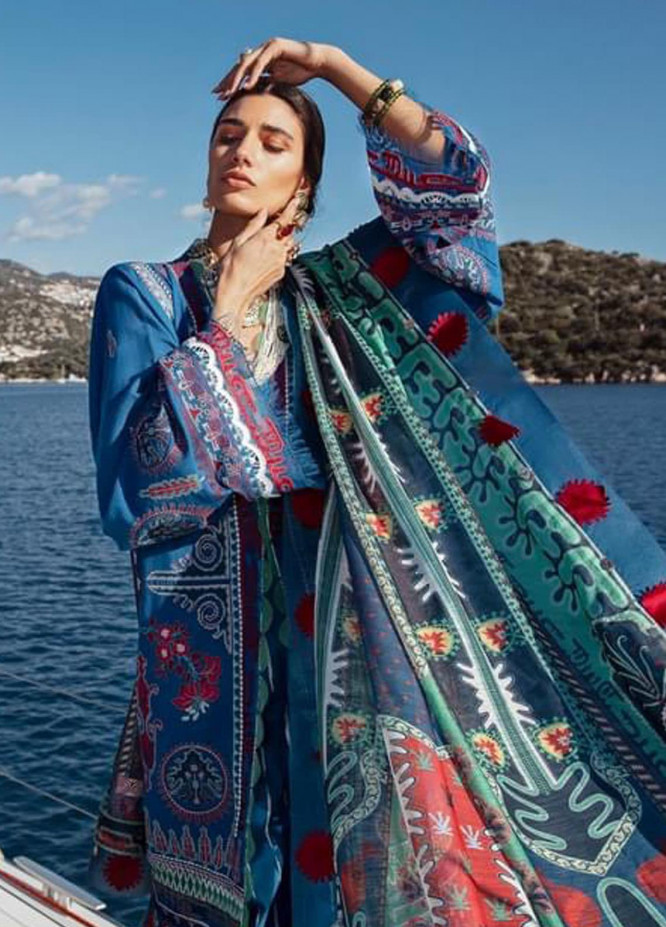 Selene By Republic WomensWear Embroidered Lawn Suits Unstitched 3 Piece RW21S Mayra B - Luxury Collection