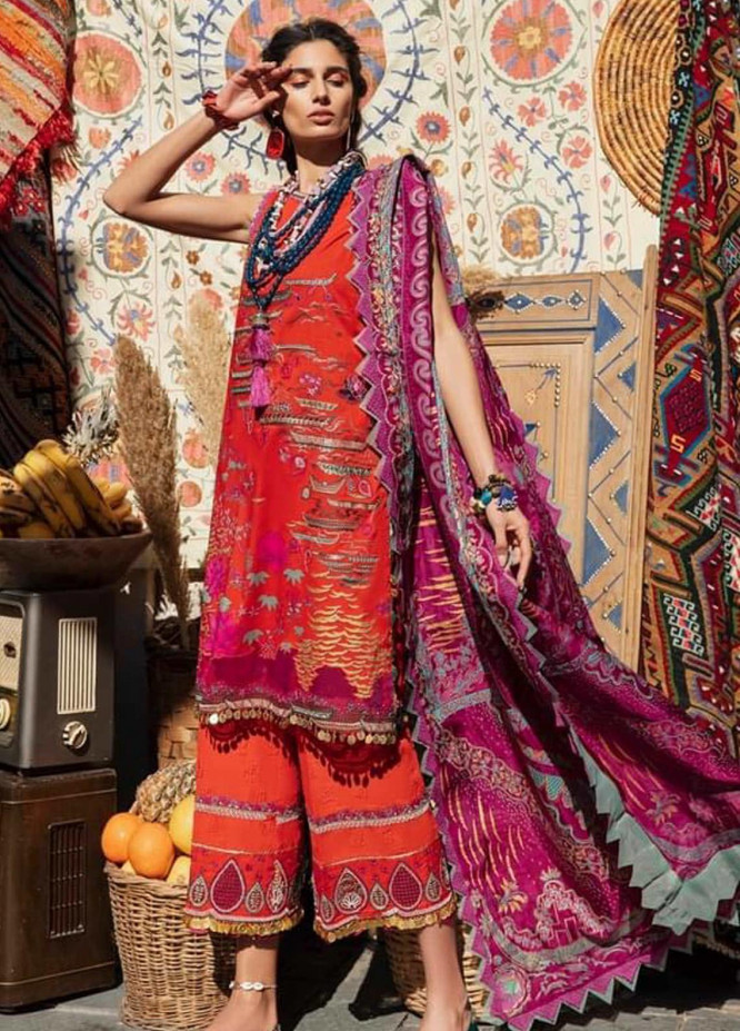 Selene By Republic WomensWear Embroidered Lawn Suits Unstitched 3 Piece RW21S Nargis A - Luxury Collection