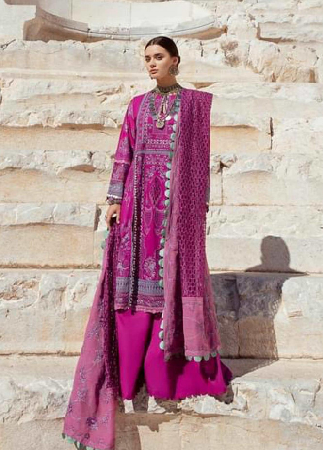 Selene By Republic WomensWear Embroidered Lawn Suits Unstitched 3 Piece RW21S Shahwar A - Luxury Collection