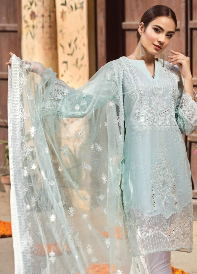 Resham Ghar Embroidered Lawn Unstitched 3 Piece Suit RG19S 01 - Spring / Summer Collection