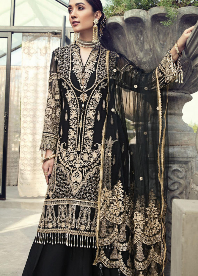 Resham Ghar Embroidered Chiffon Unstitched 3 Piece Suit RG20-C2 04 - Luxury Collection