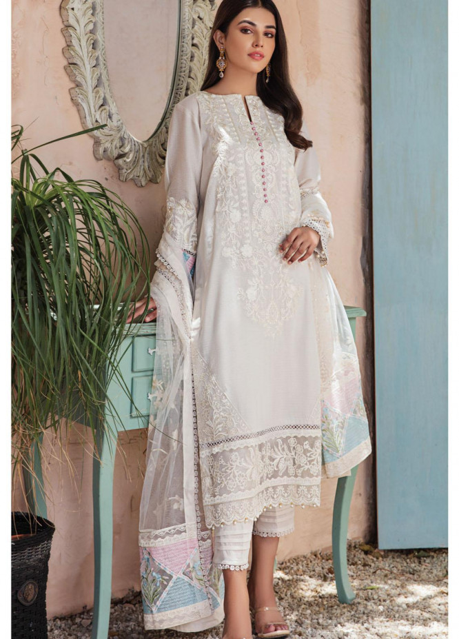 Resham Ghar Embroidered Lawn Suits Unstitched 3 Piece RG21L-2 RGS-01 - Luxury Collection