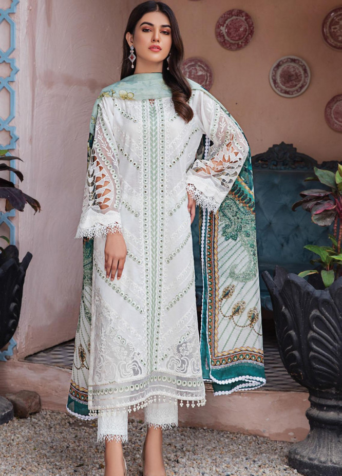 Resham Ghar Embroidered Lawn Suits Unstitched 3 Piece RG21L-2 RGS-04 - Luxury Collection