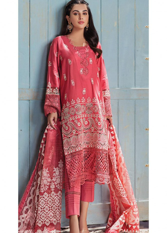 Resham Ghar Embroidered Lawn Suits Unstitched 3 Piece RG21L-2 RGS-06 - Luxury Collection