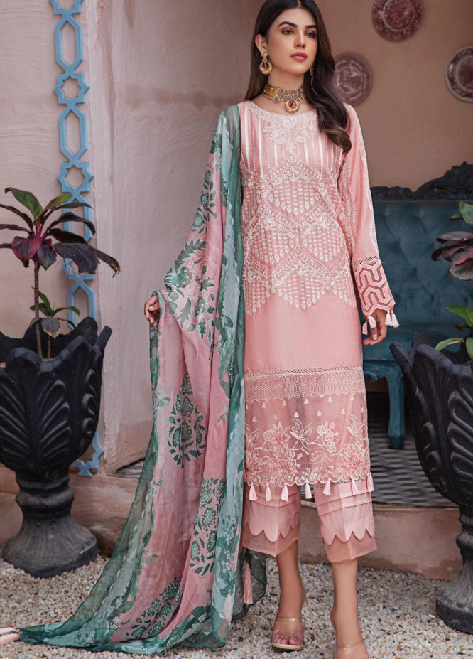 Resham Ghar Embroidered Lawn Suits Unstitched 3 Piece RG21L-2 RGS-08 - Luxury Collection
