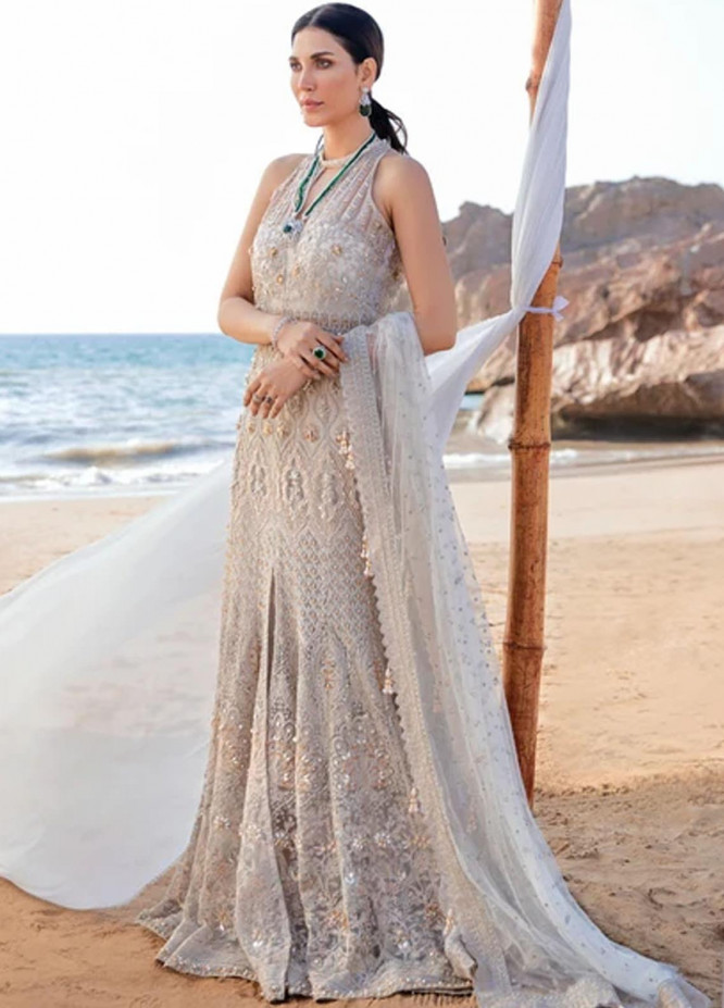 Amiraa by Reign Embroidered Net Suits Unstitched 3 Piece RGN21AM RN-08 MARTHA-B - Luxury Collection