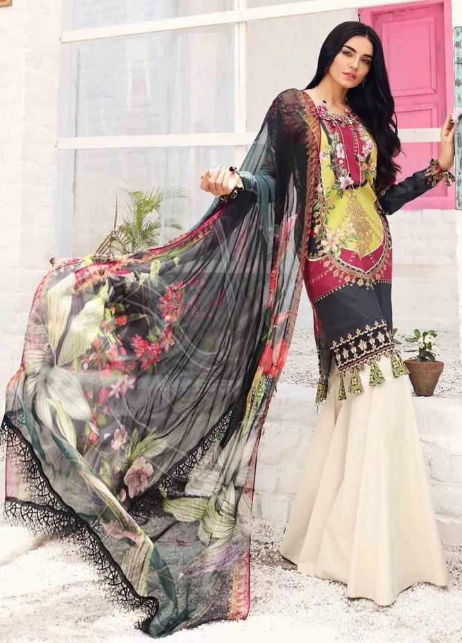 Rhea By Shurooq Embroidered Lawn Suits Unstitched 3 Piece SHQ21R 01 Alyssum - Summer Collection